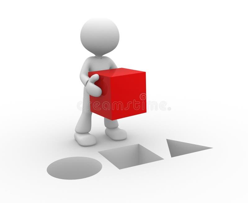 红色多维数据集 向量例证