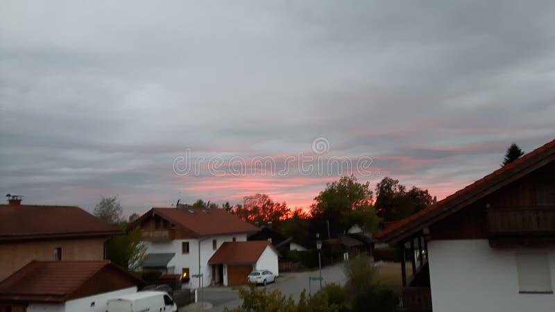 红色天空 图库摄影