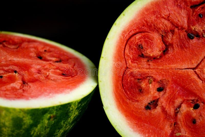 红色天鹅绒西瓜 免版税库存图片