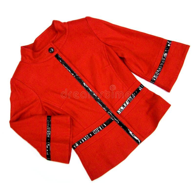红色夹克的夫人 库存图片