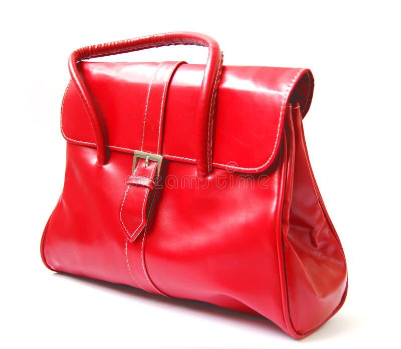 红色妇女袋子 免版税库存照片