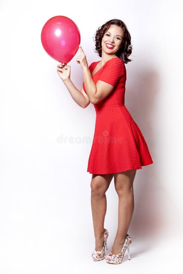 红色妇女 免版税库存图片