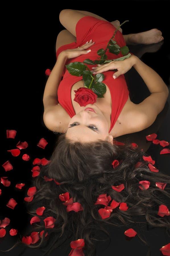 红色妇女 免版税库存照片