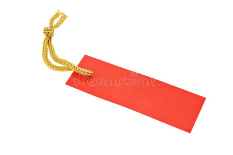 红色字符串标签 免版税图库摄影