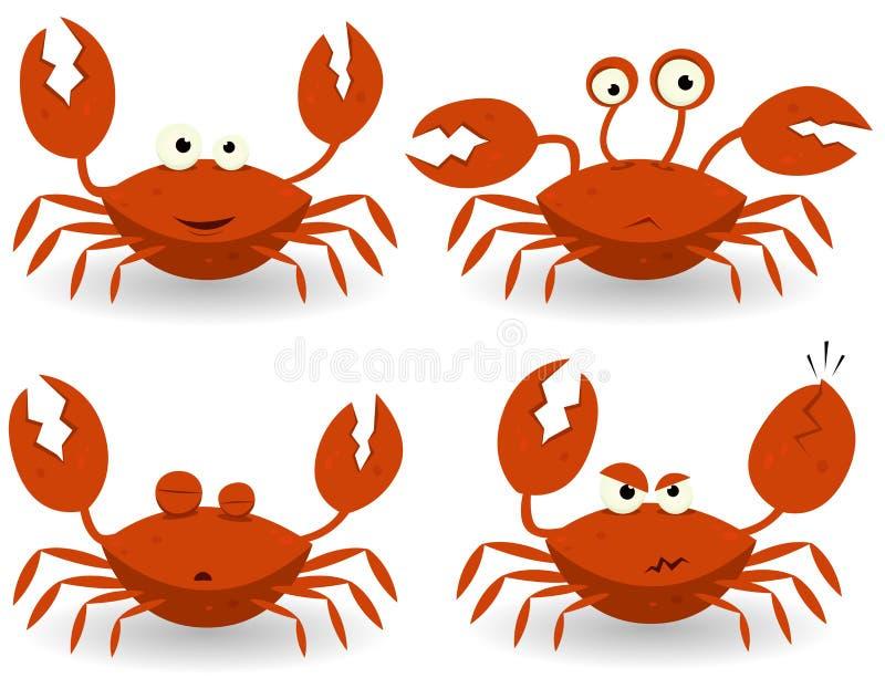 红色字符的螃蟹 库存例证