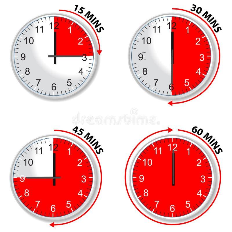 红色定时器 皇族释放例证