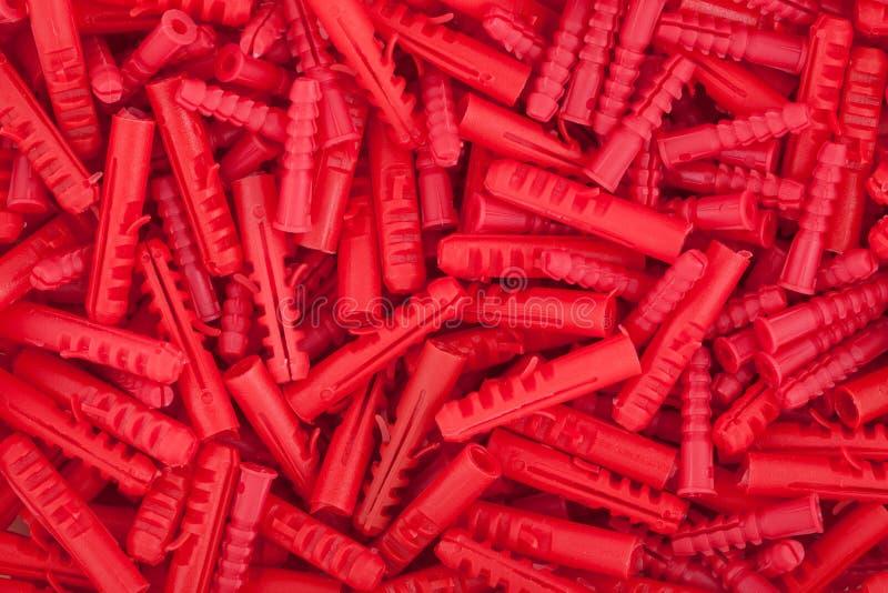 红色定缝销钉纹理 免版税图库摄影