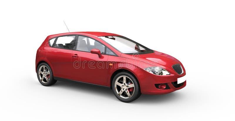 红色家用汽车 库存图片