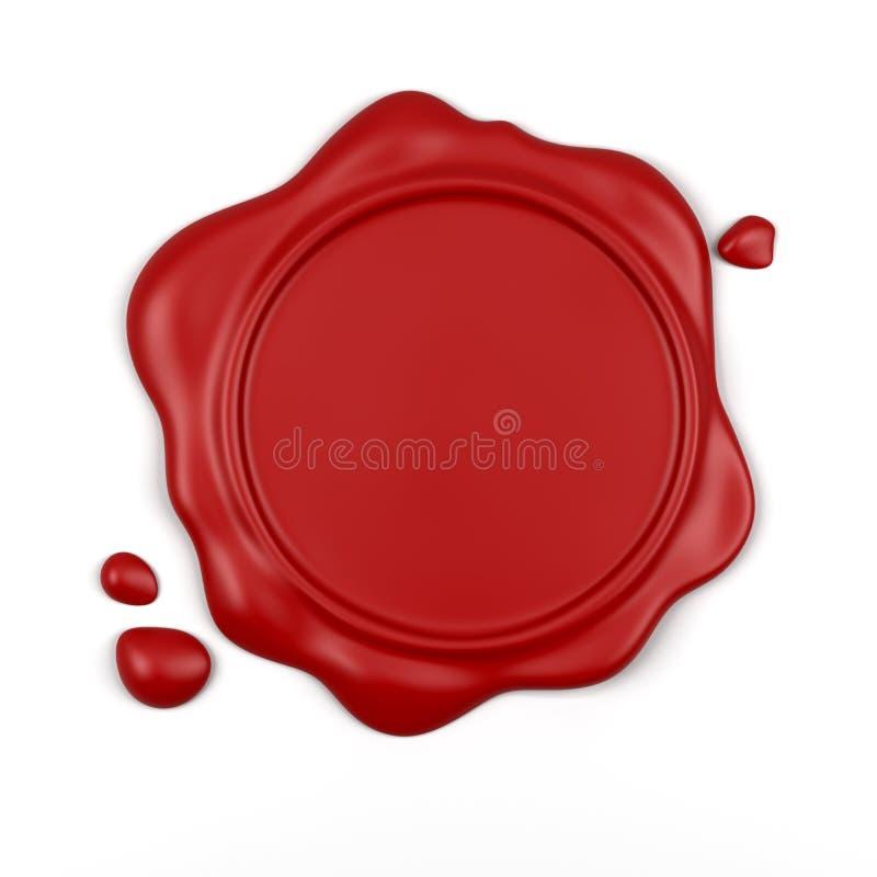 红色密封蜡 向量例证