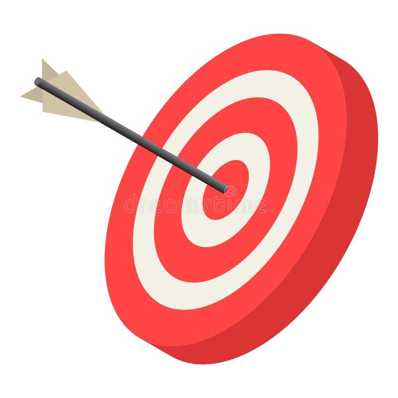 红色射箭目标象,等量样式 库存例证
