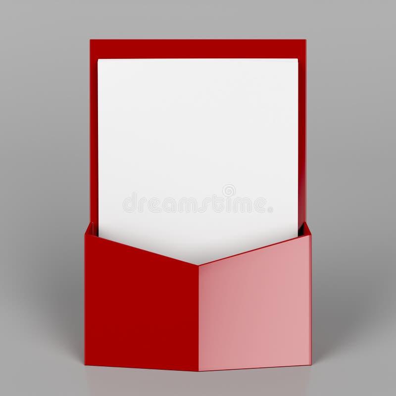 红色小册子立场 库存例证