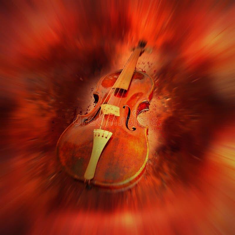 红色小提琴 库存例证
