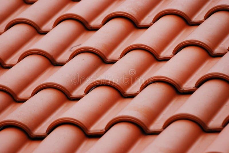 红色屋顶顶层 免版税库存图片