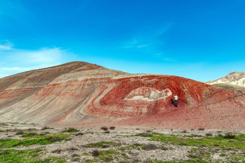 红色山 库存图片