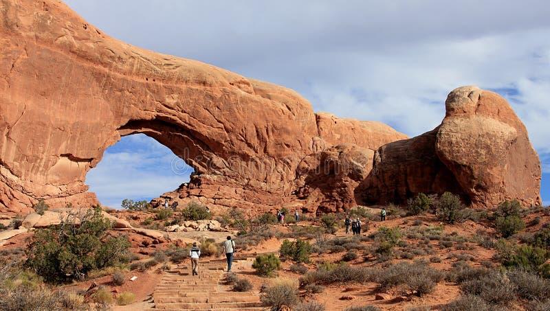 红色岩层在峡谷地国家公园,犹他 免版税图库摄影