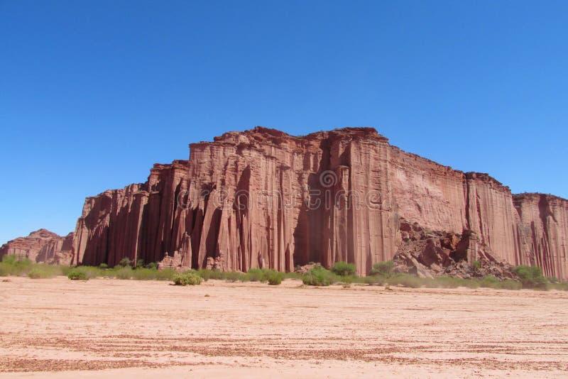 红色岩层 免版税库存图片