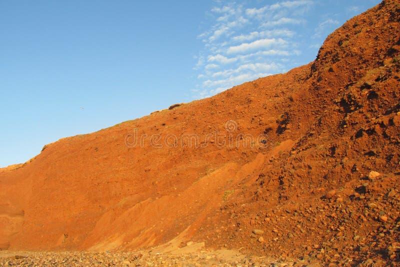 红色岩石和泥聚结 免版税库存图片