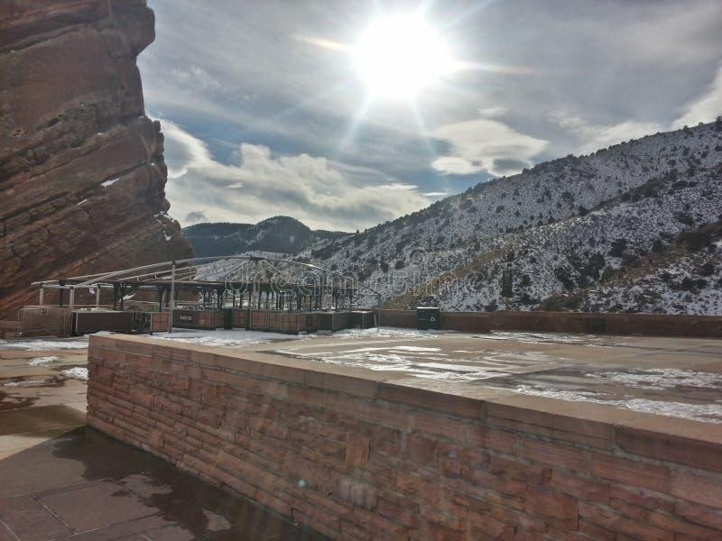红色岩石在科罗拉多 免版税库存图片