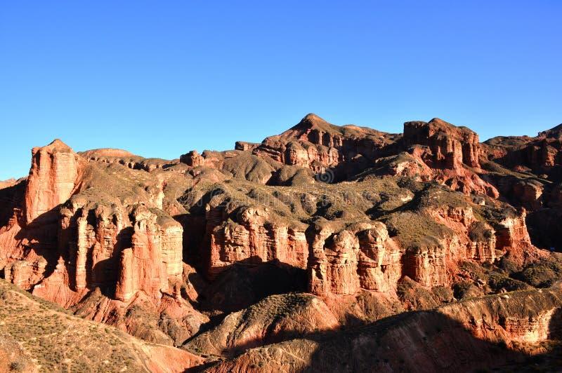 红色岩石城堡 库存图片