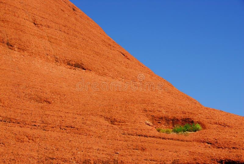 红色岩石山腰 图库摄影