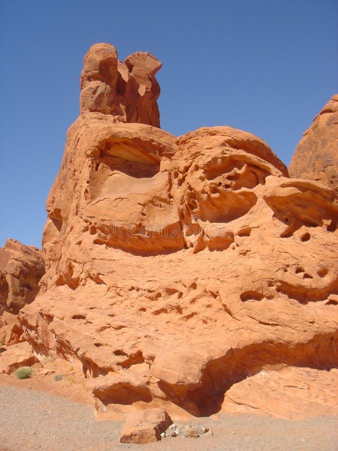 红色岩石山 图库摄影