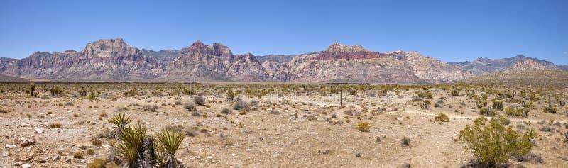 红色岩石峡谷全景内华达。 免版税图库摄影