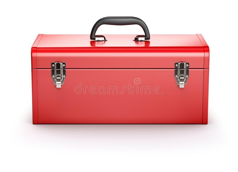 红色工具箱 皇族释放例证