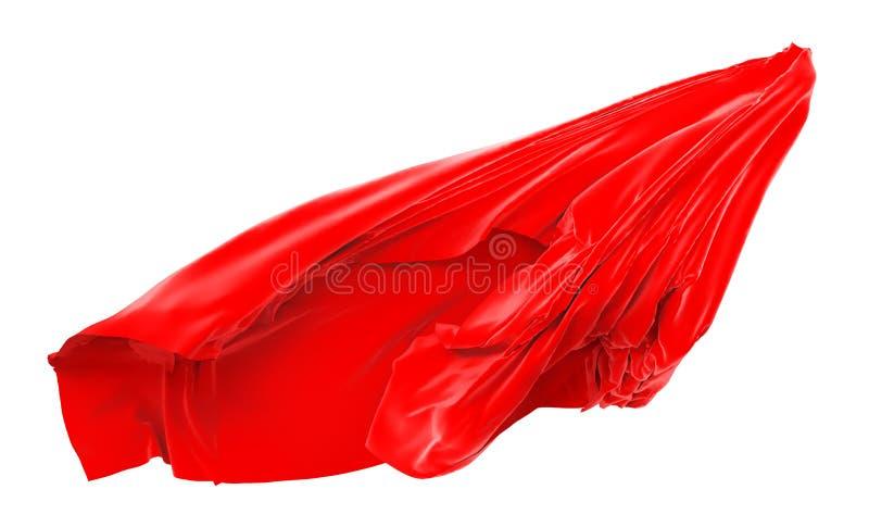 红色布料飞行 皇族释放例证