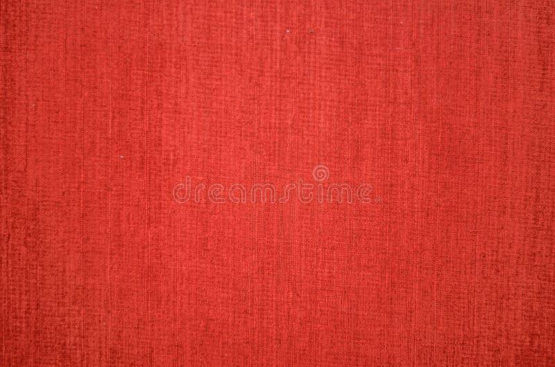 红色帆布纹理 免版税库存照片