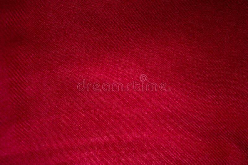 红色开士米围巾背景,开士米纹理 库存照片