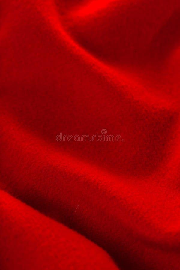 红色开士米布料纹理  库存照片