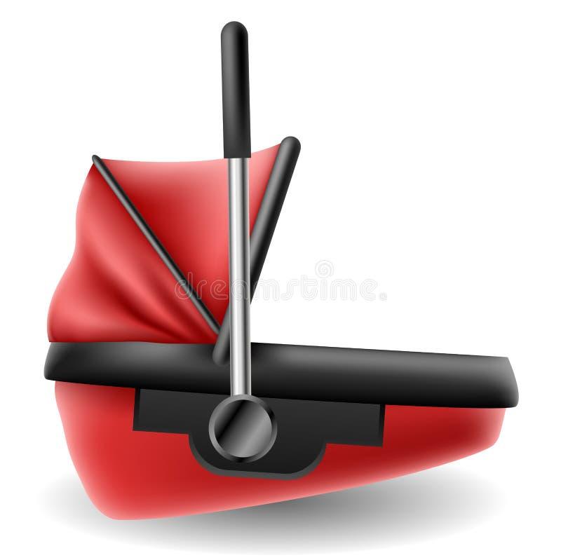 红色微型汽车载体 库存例证