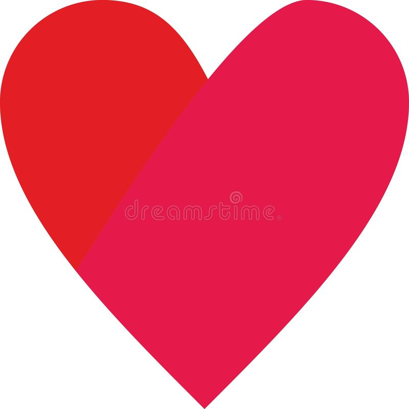 红色心脏商标、传染媒介和例证 皇族释放例证