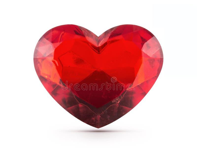 红色心脏宝石 库存图片