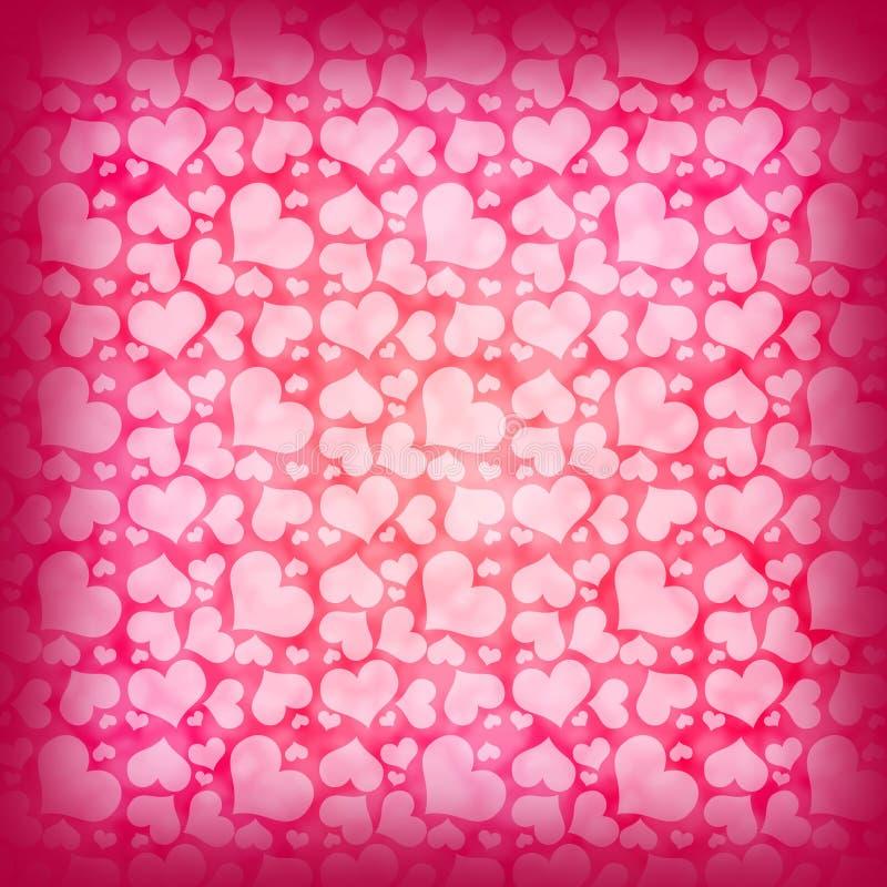 红色心脏抽象背景  库存例证