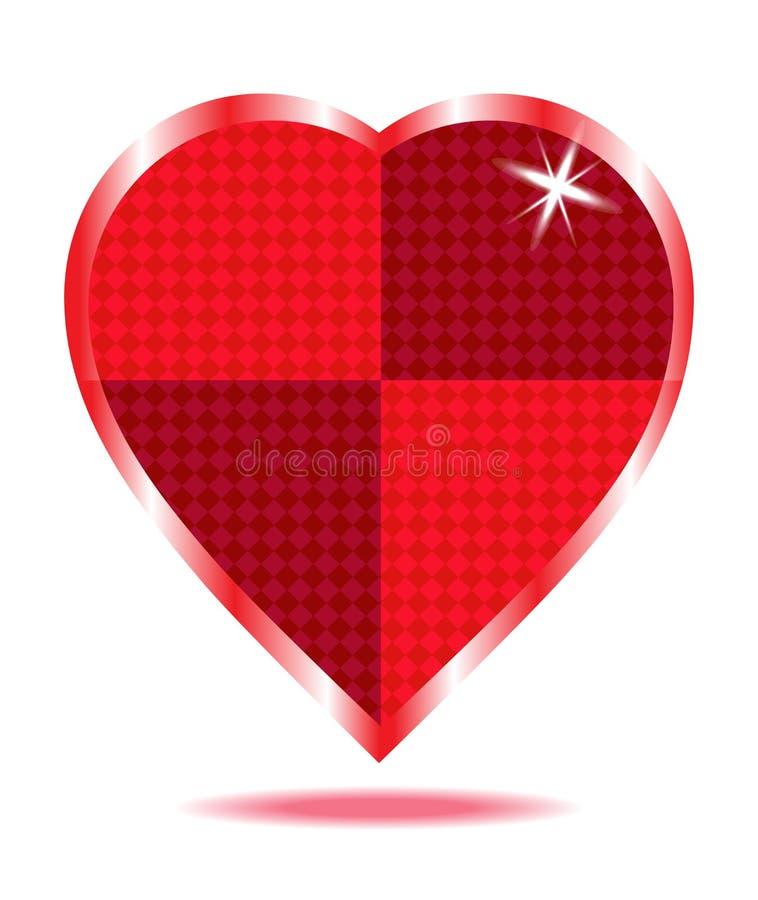 红色心脏摘要 图库摄影