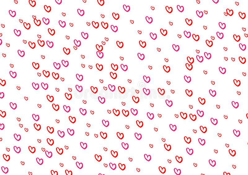 红色心脏样式背景 抽象背景设计例证马赛克 向量例证