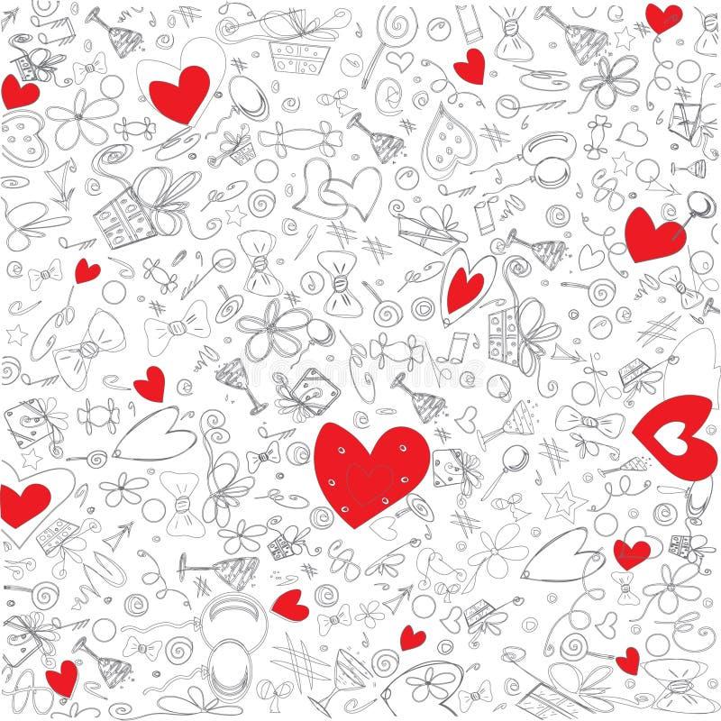 红色心脏的例证 免版税图库摄影