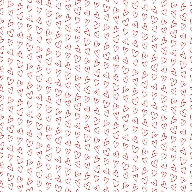 红色心脏的样式 免版税图库摄影
