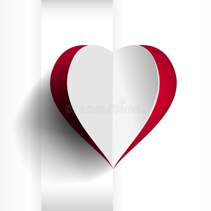 红色心脏背景 库存例证