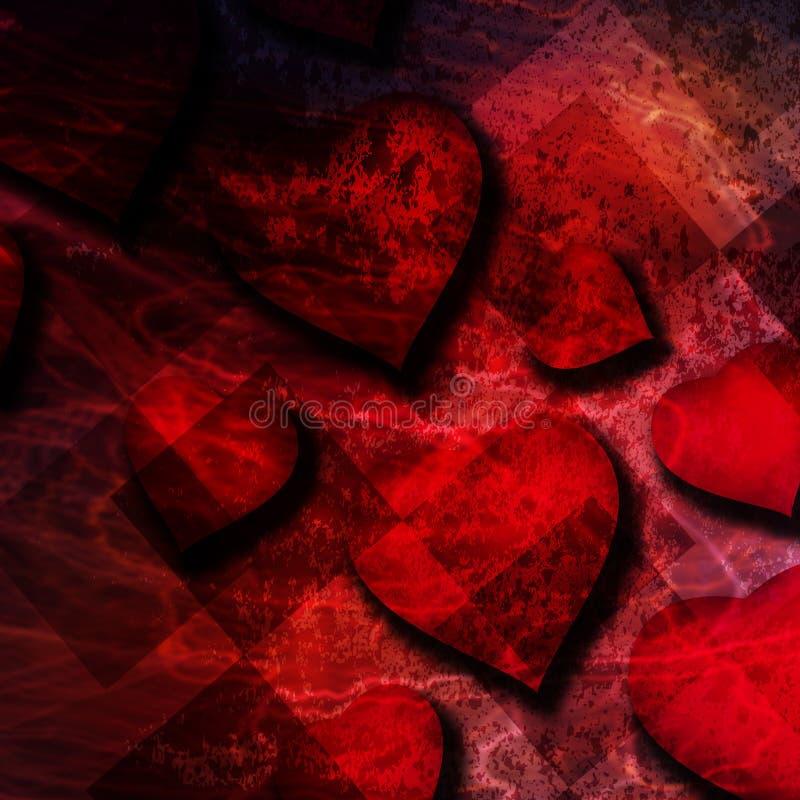 红色心脏背景 向量例证