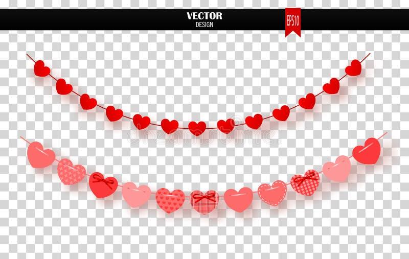红色心脏诗歌选在透明背景的 也corel凹道例证向量 向量例证