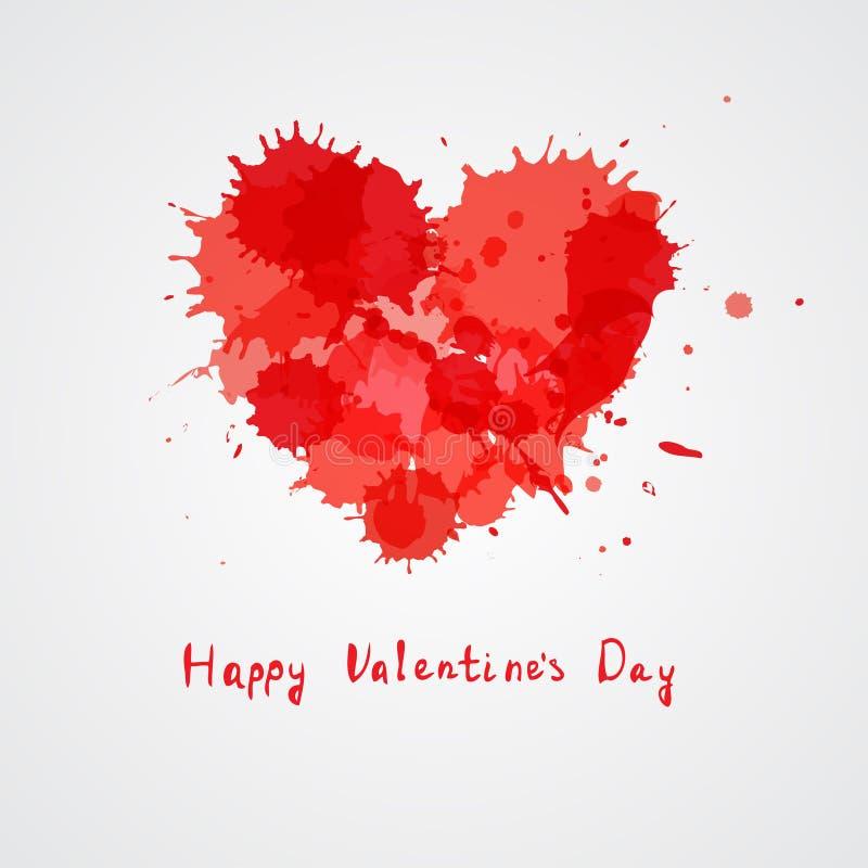 红色心脏,您的设计的传染媒介元素 向量例证