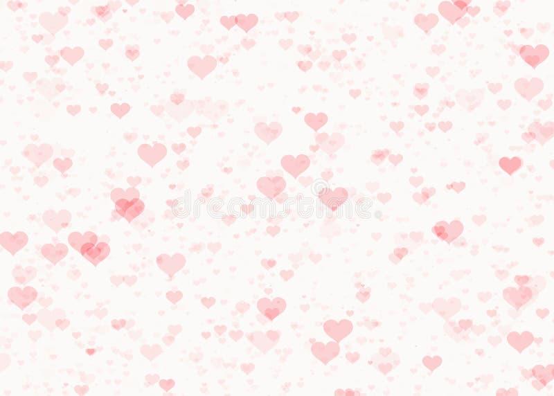 红色心脏水印背景 库存例证