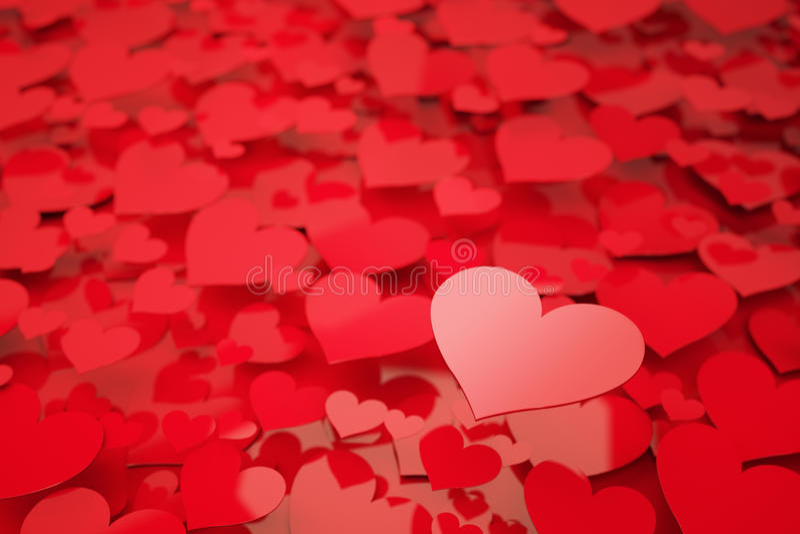 红色心脏 皇族释放例证