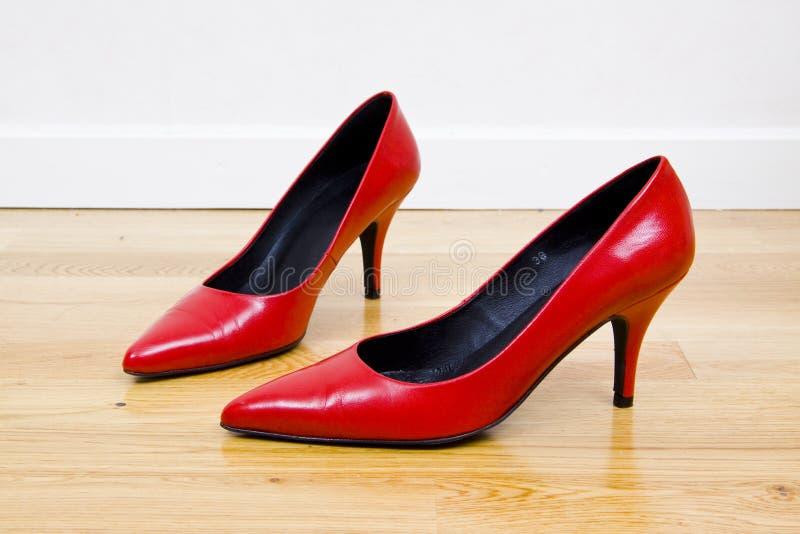红色性感的鞋子 免版税图库摄影