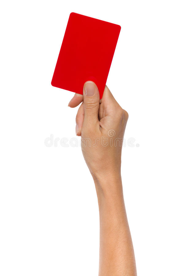 红色惩罚卡片 库存照片