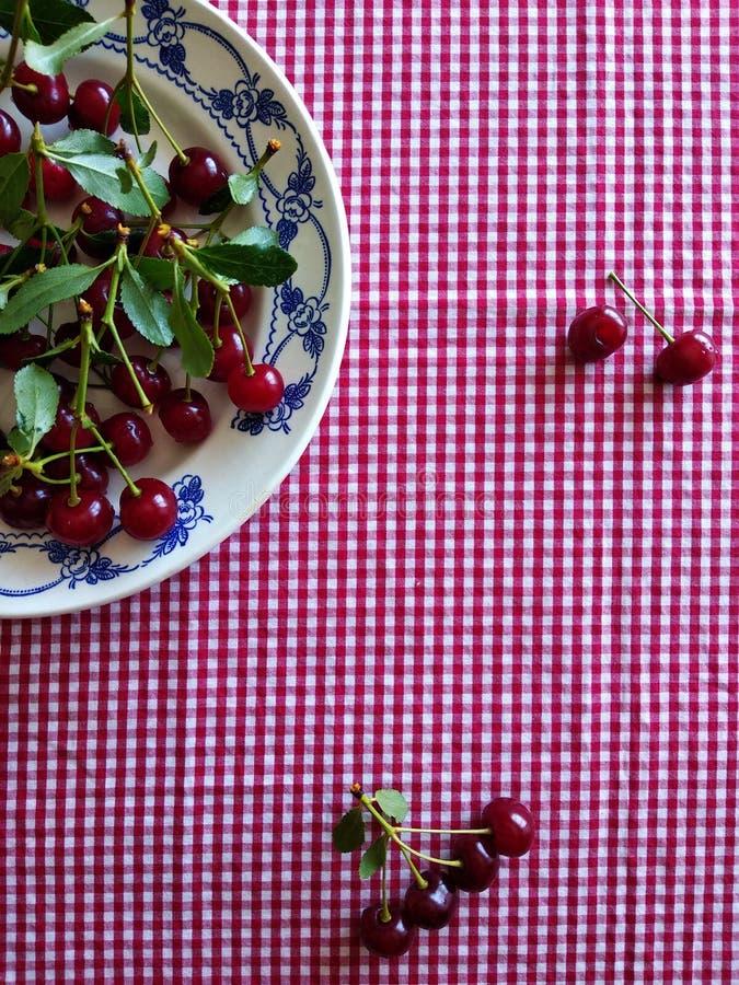 红色成熟樱桃 免版税库存图片
