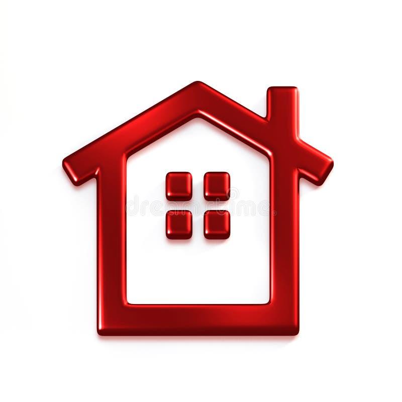 红色房子 截去容易的编辑文件例证的3d包括了路径翻译 向量例证