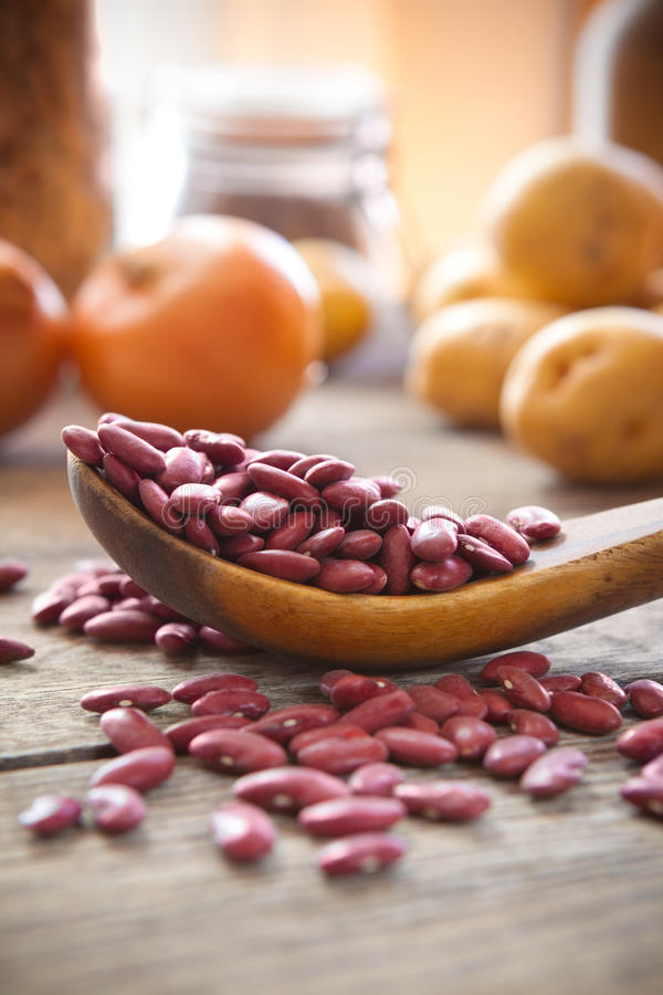 红色扁豆 库存照片